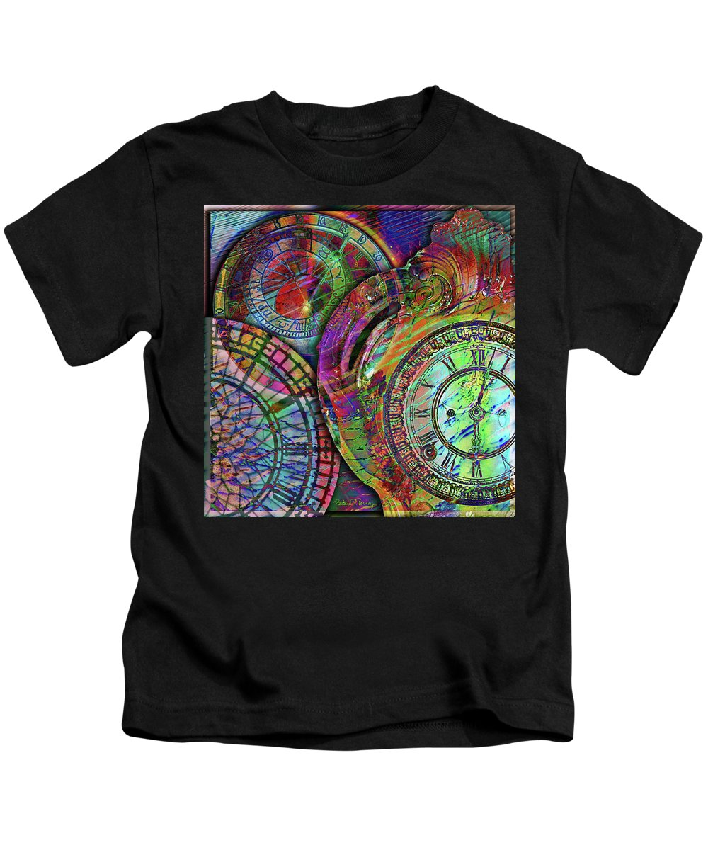 Clock Kids T-Shirt featuring the digital art Sands Of Time by Barbara Berney