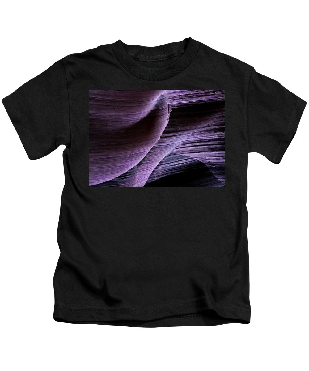 Slot Kids T-Shirt featuring the photograph Sandstone Symphony by Mike Dawson