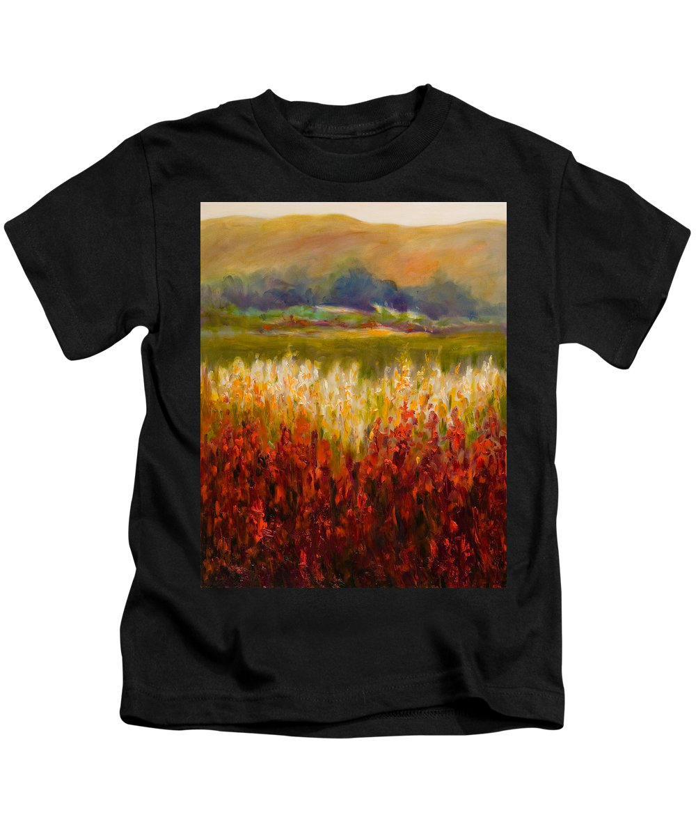 Landscape Kids T-Shirt featuring the painting Santa Rosa Valley by Shannon Grissom
