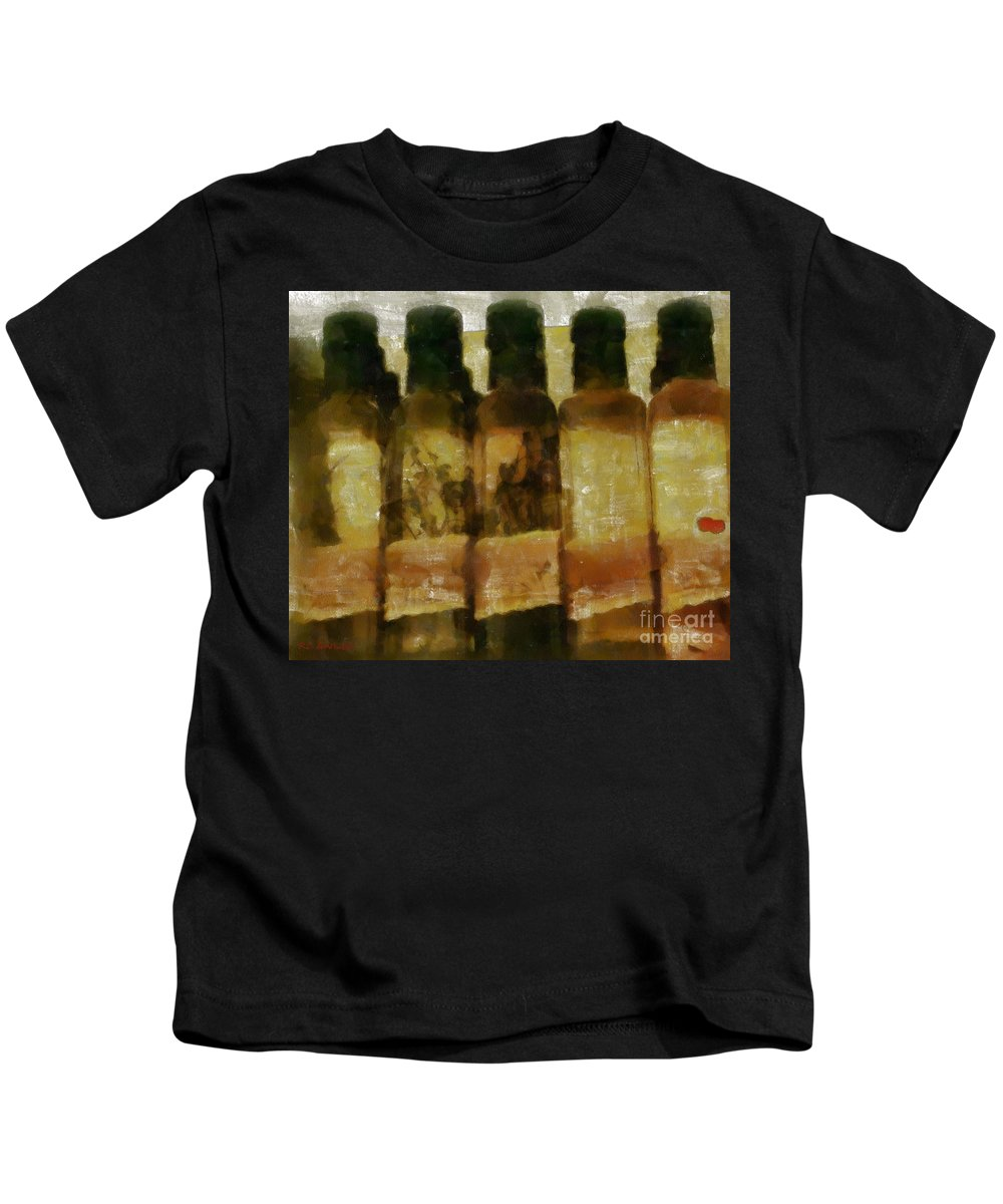 Bottles Kids T-Shirt featuring the painting Savories by RC DeWinter