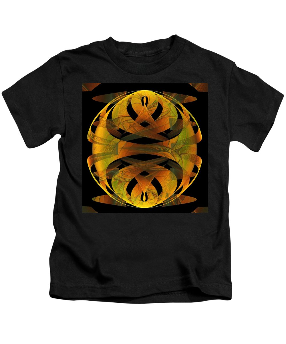 Digital Art Kids T-Shirt featuring the digital art Scarab by Amanda Moore