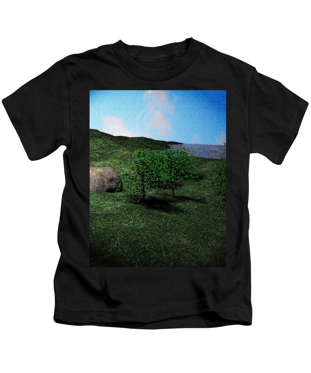 Scenery Kids T-Shirt featuring the digital art Scenery by James Barnes