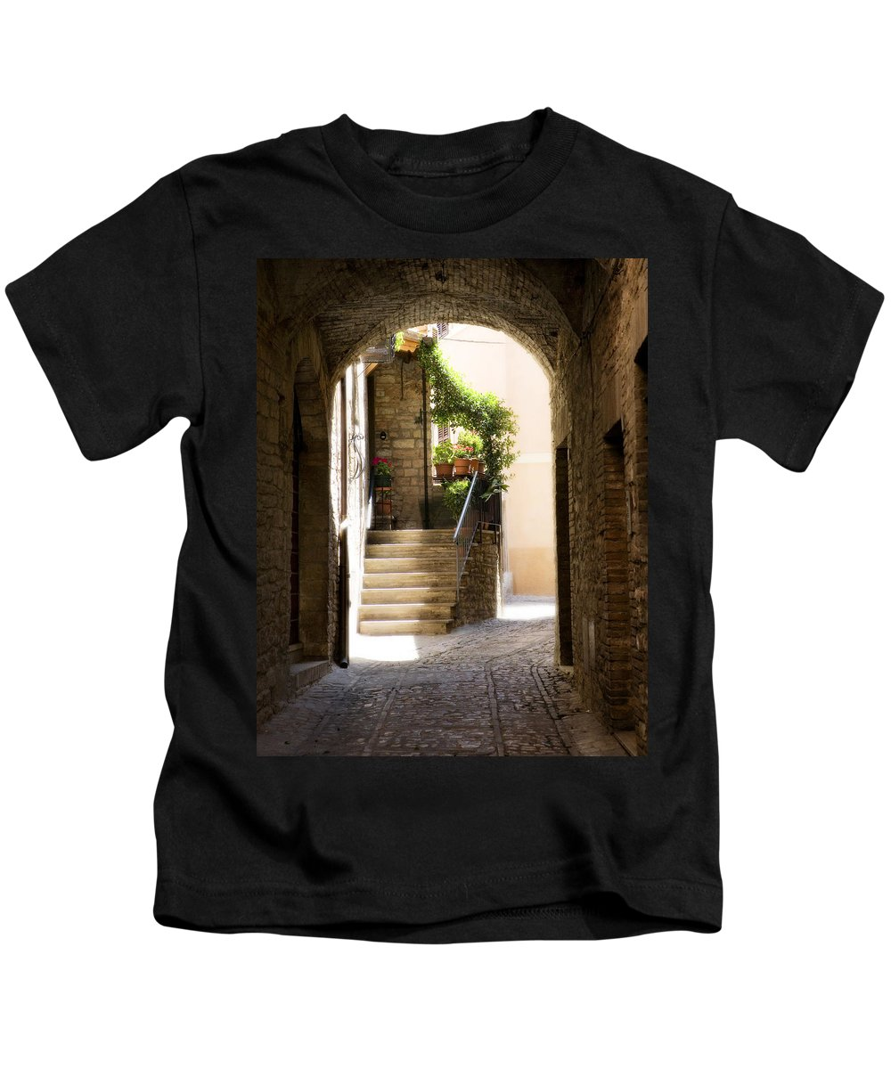 Italy Kids T-Shirt featuring the photograph Scenic Archway by Marilyn Hunt