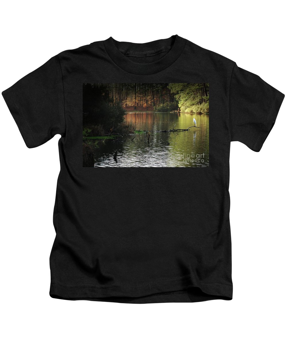 Nature Kids T-Shirt featuring the photograph Scenic Elder Lake by Kim Henderson