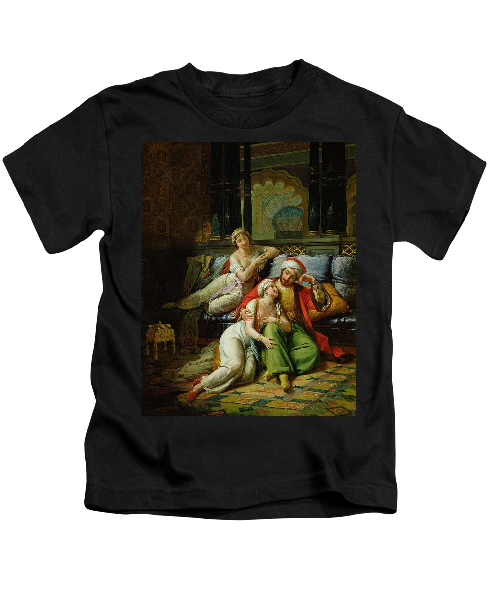 Scheherazade Kids T-Shirt featuring the painting Scheherazade by Paul Emile Detouche