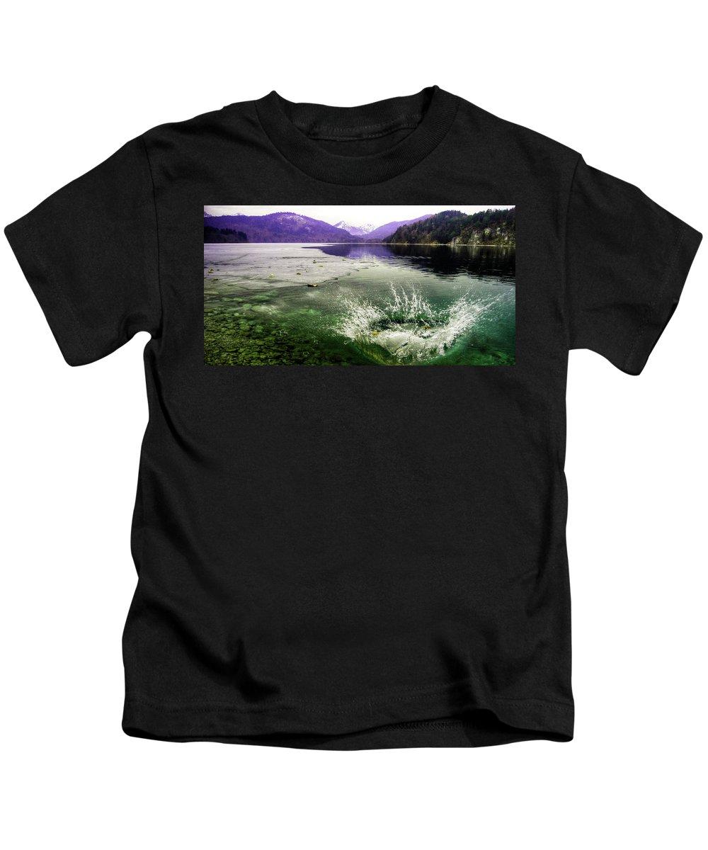 Splash Kids T-Shirt featuring the photograph Schplaash by Rob Hawkins