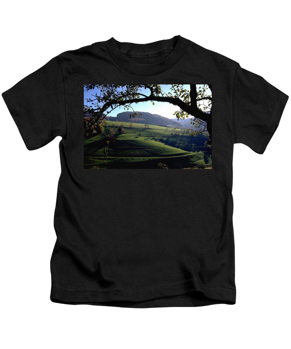 Schwarzwald Kids T-Shirt featuring the photograph Schwarzwald by Flavia Westerwelle