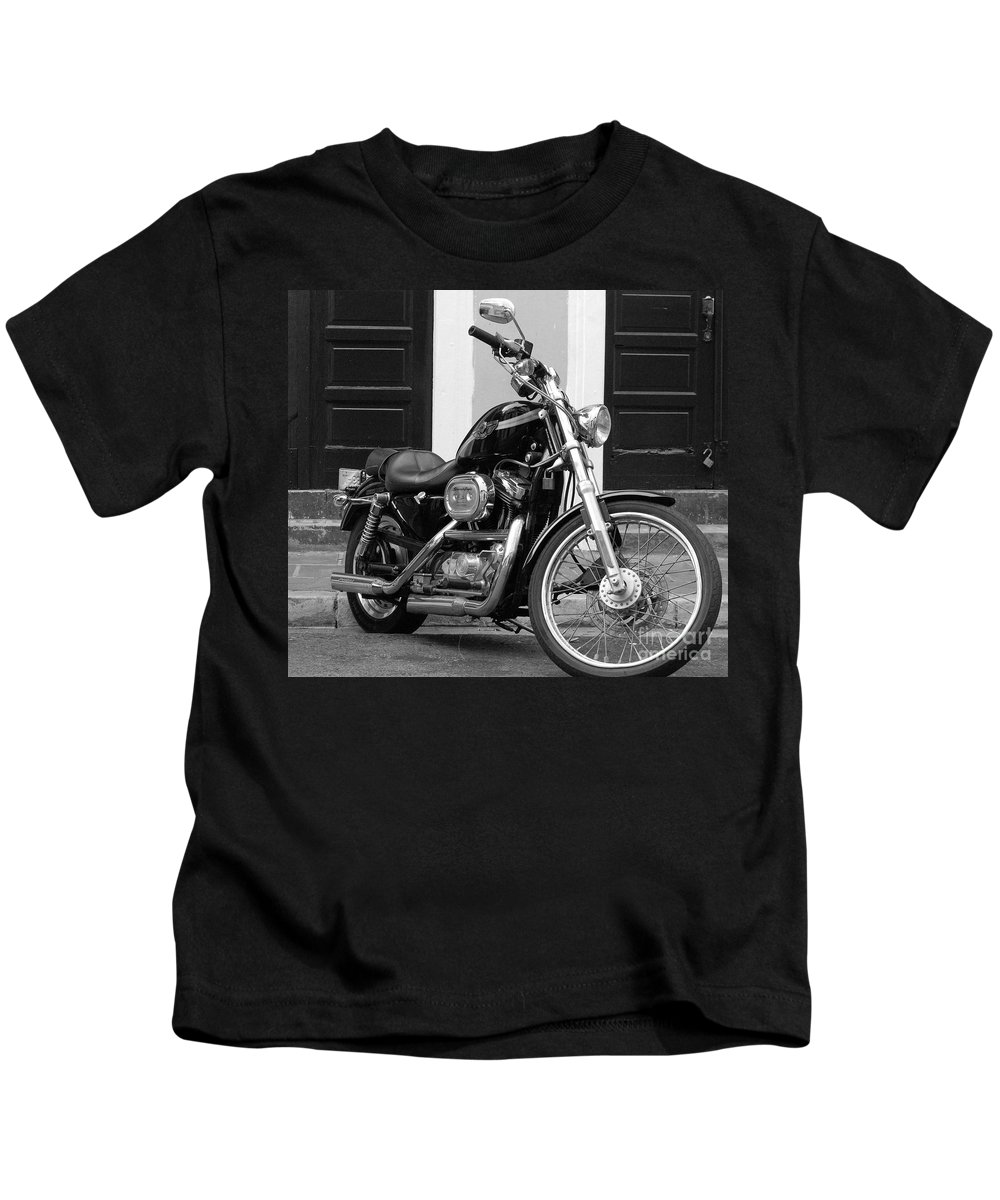 Motorcycle Kids T-Shirt featuring the photograph Screamin Eagle by Debbi Granruth