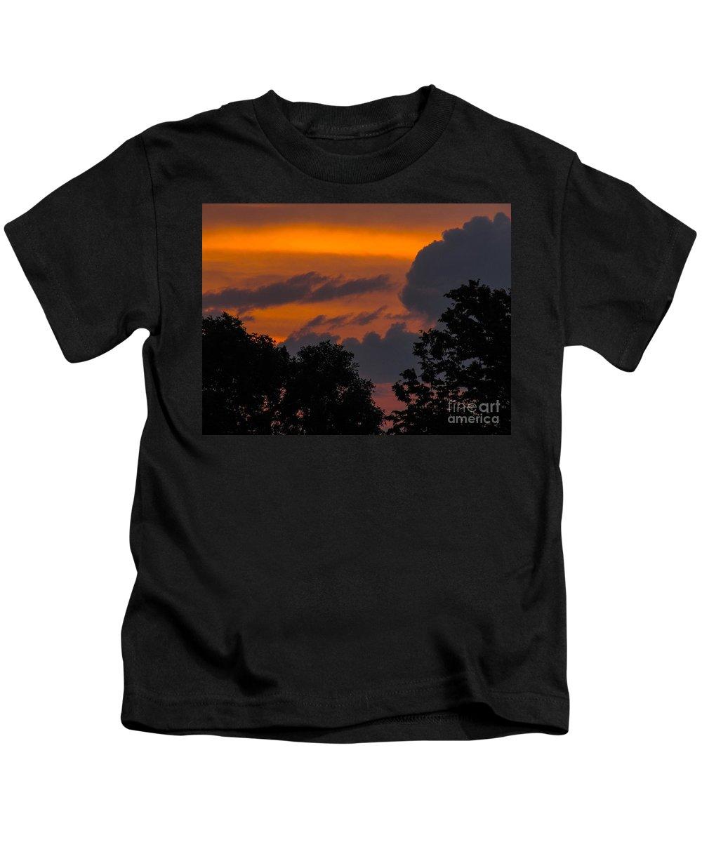 Sunrise Kids T-Shirt featuring the photograph Mulberry Tree Sunrise by Lisa Knauff