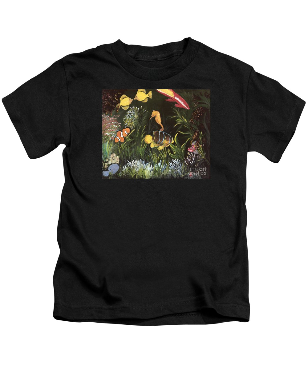Sea Kids T-Shirt featuring the painting Sea Harmony by Carol Sweetwood