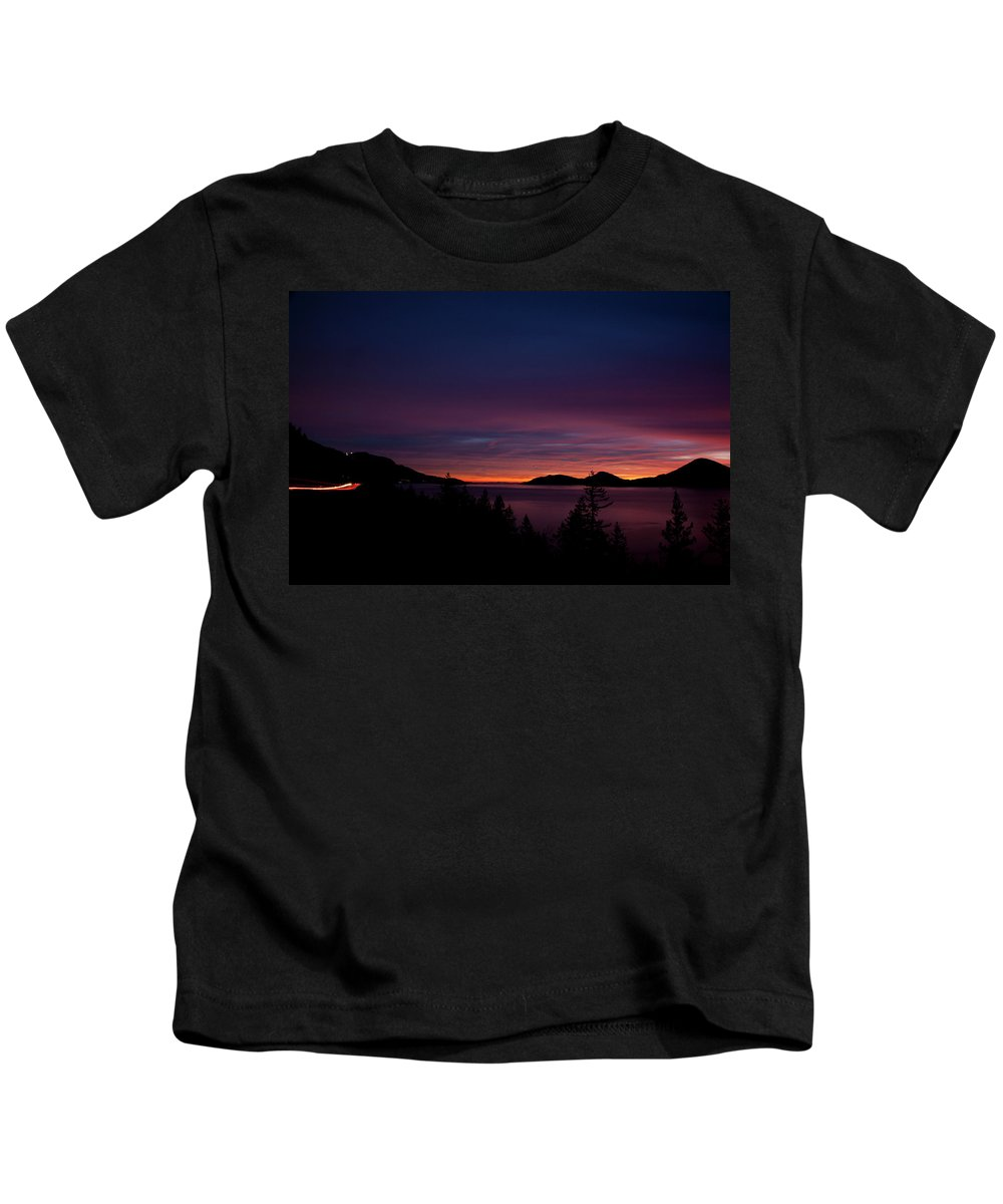 Sea Kids T-Shirt featuring the photograph Sea To Sky Sunset by Monte Arnold
