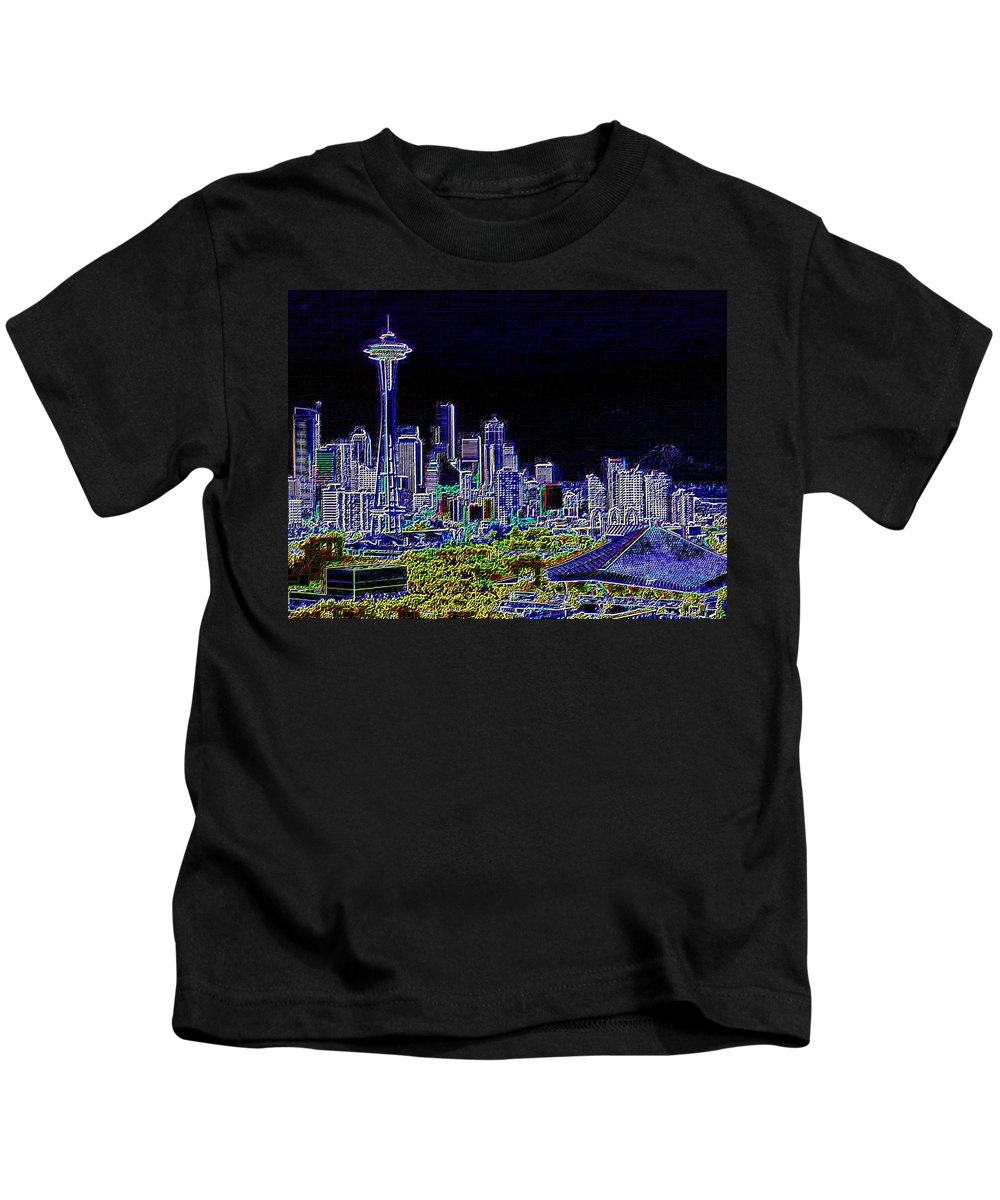 Seattle Kids T-Shirt featuring the photograph Seattle Quintessence by Tim Allen
