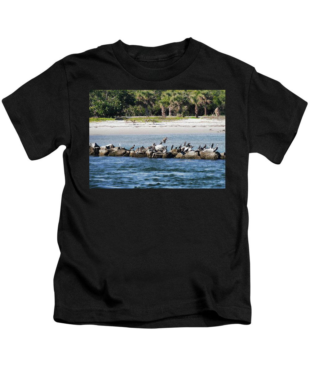 Kids T-Shirt featuring the photograph Sebastian Inlet State Park IIi by Tina Baxter