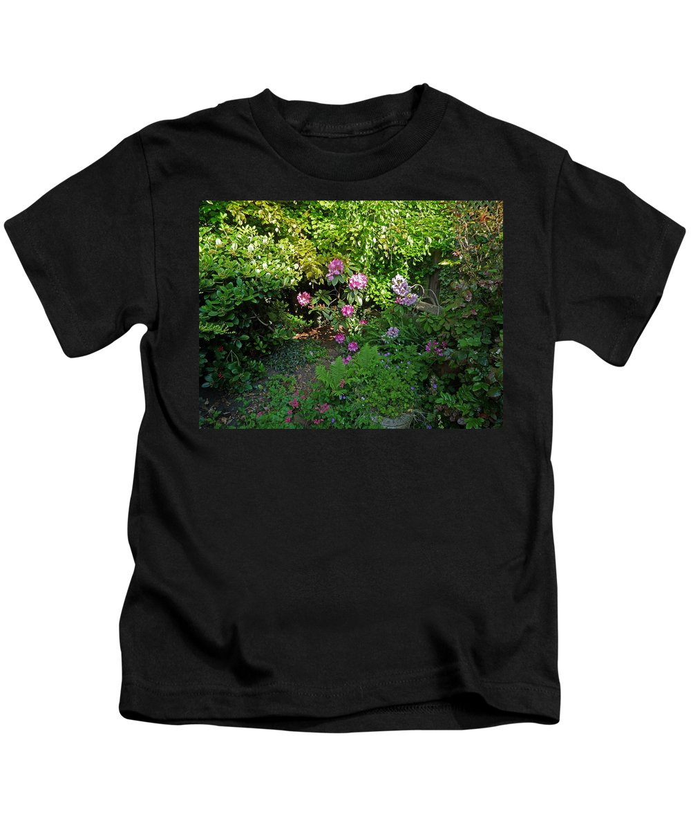 Garden Kids T-Shirt featuring the photograph Secret Garden by Charles Stuart