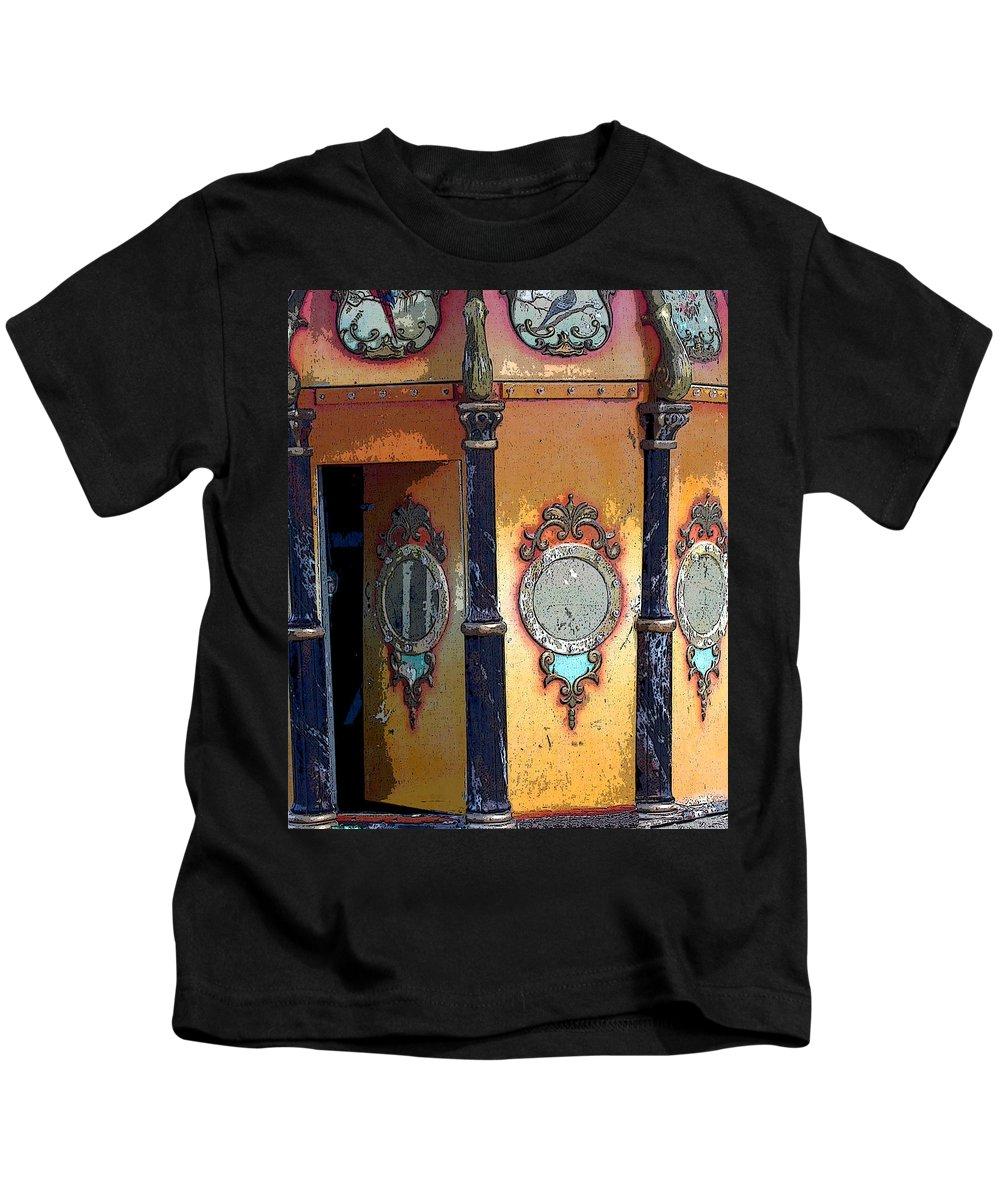 Carousel Kids T-Shirt featuring the photograph Secret Passageway by Anne Cameron Cutri