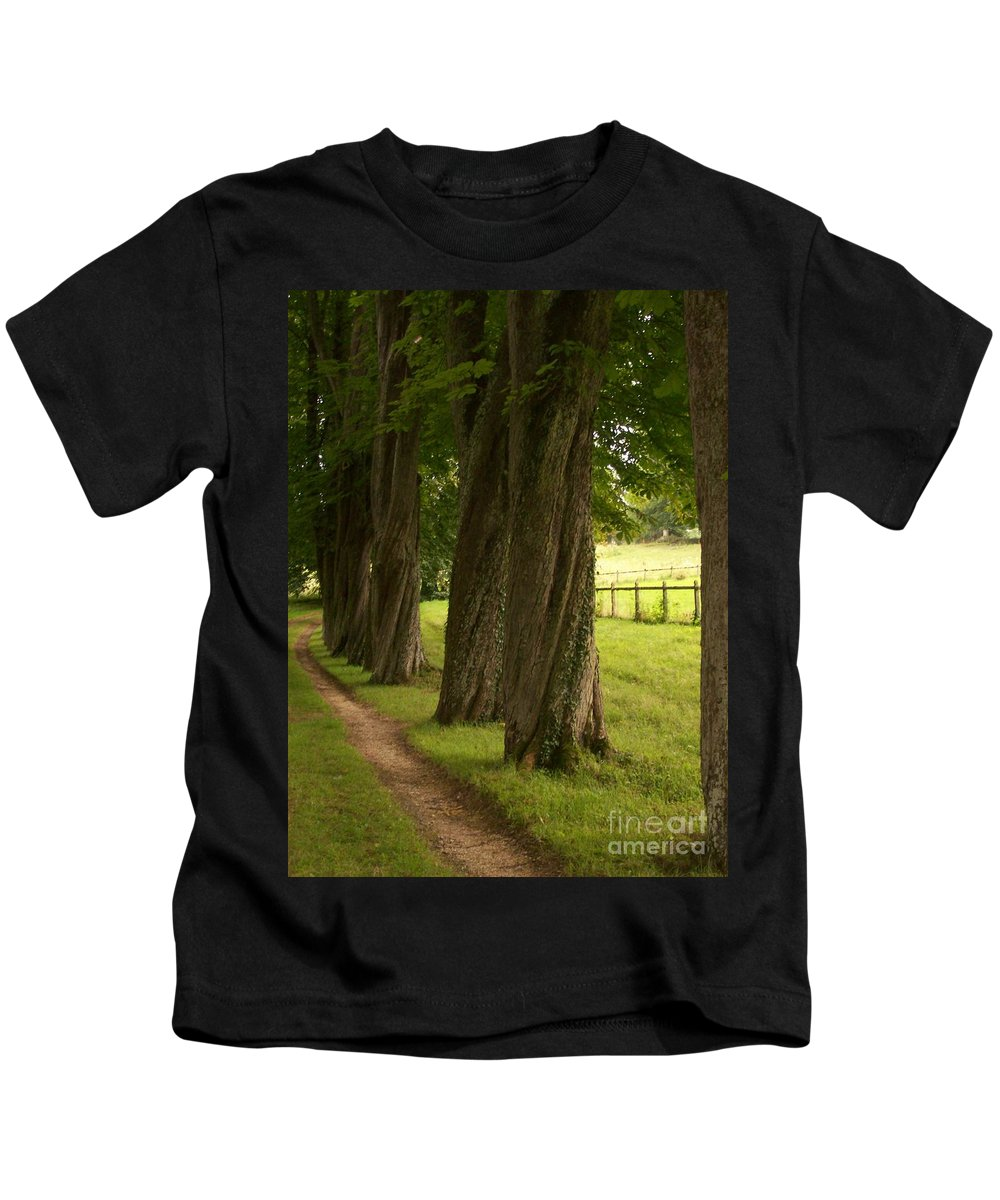Secret Kids T-Shirt featuring the photograph Secret Path by Mary Mikawoz