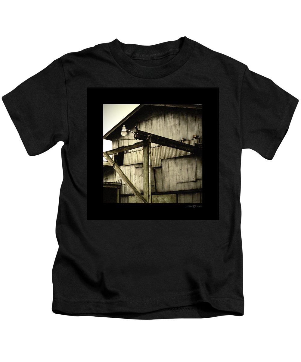 Corrugated Kids T-Shirt featuring the photograph Security Light by Tim Nyberg