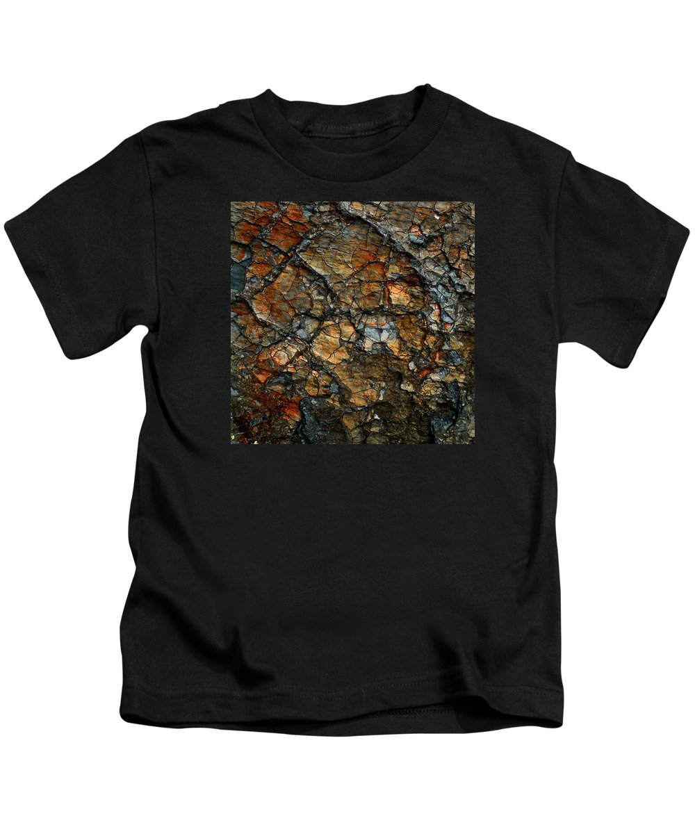 Abstract Kids T-Shirt featuring the digital art Sedimentary Abstract by Dave Martsolf