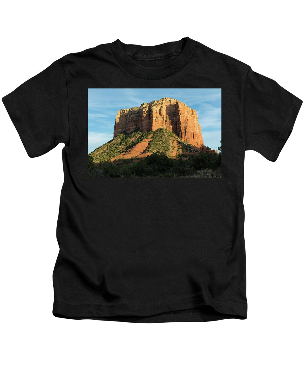 Sedona Kids T-Shirt featuring the photograph Sedona Red Rocks by Charles Scrofano Jr