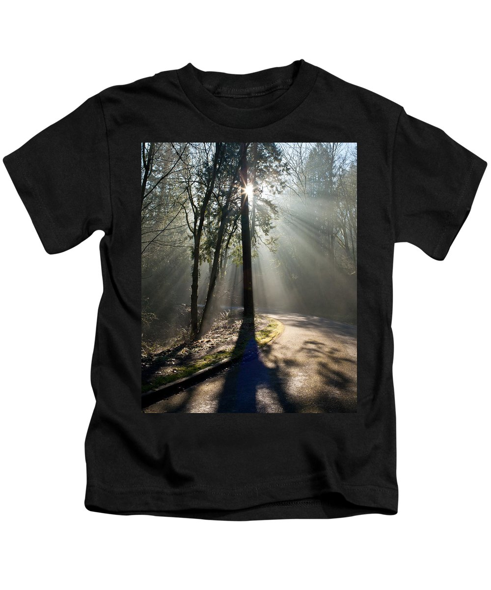 Light Kids T-Shirt featuring the photograph See The Light by Mike Reid