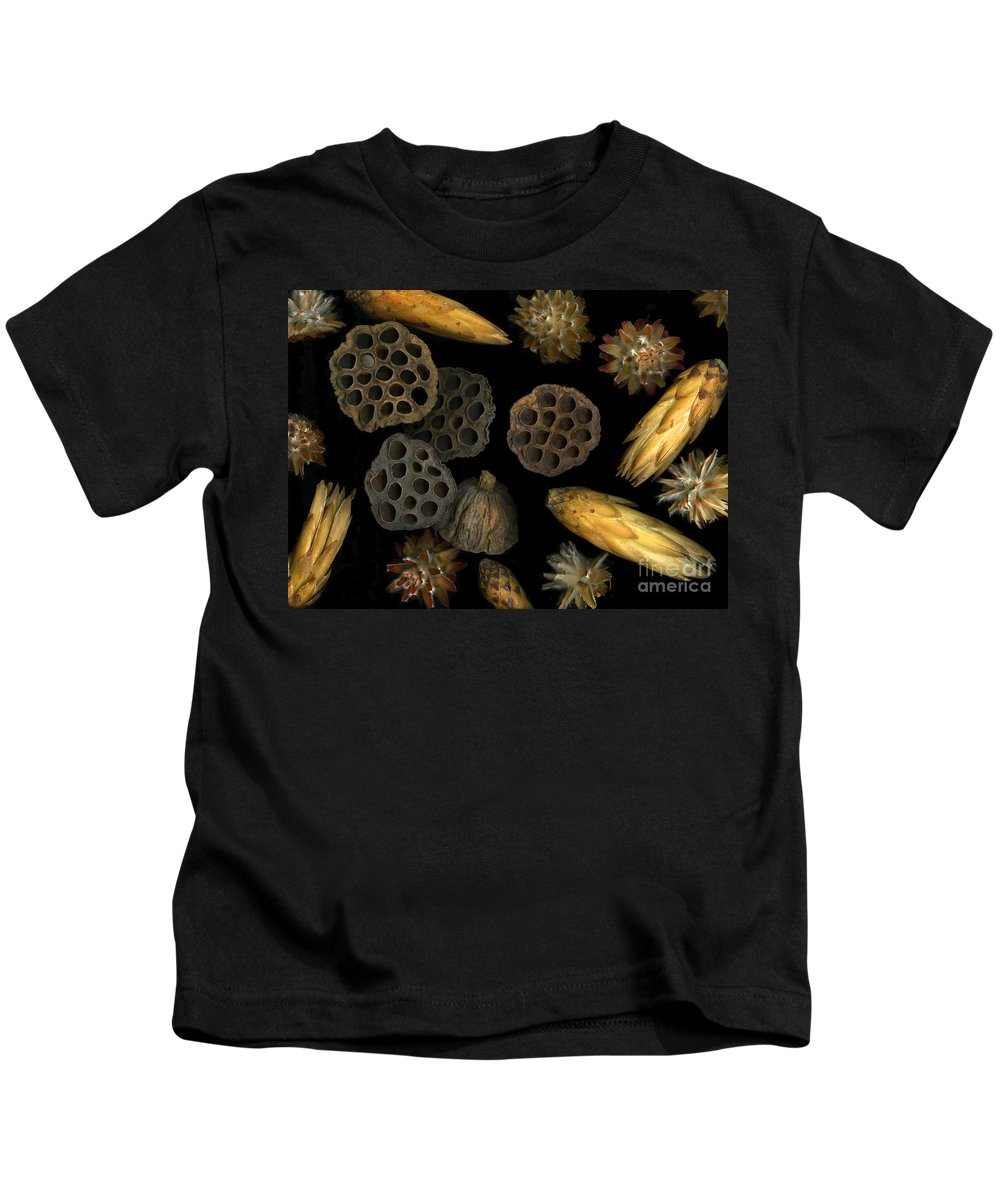 Pods Kids T-Shirt featuring the photograph Seeds And Pods by Christian Slanec