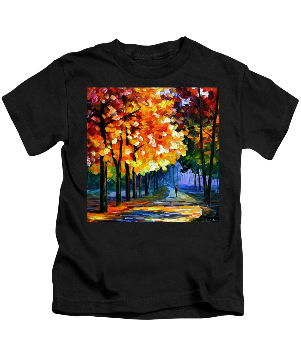 Afremov Kids T-Shirt featuring the painting September by Leonid Afremov