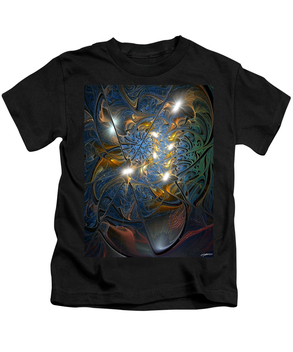 Abstract Kids T-Shirt featuring the digital art Serendipitous Trope by Casey Kotas