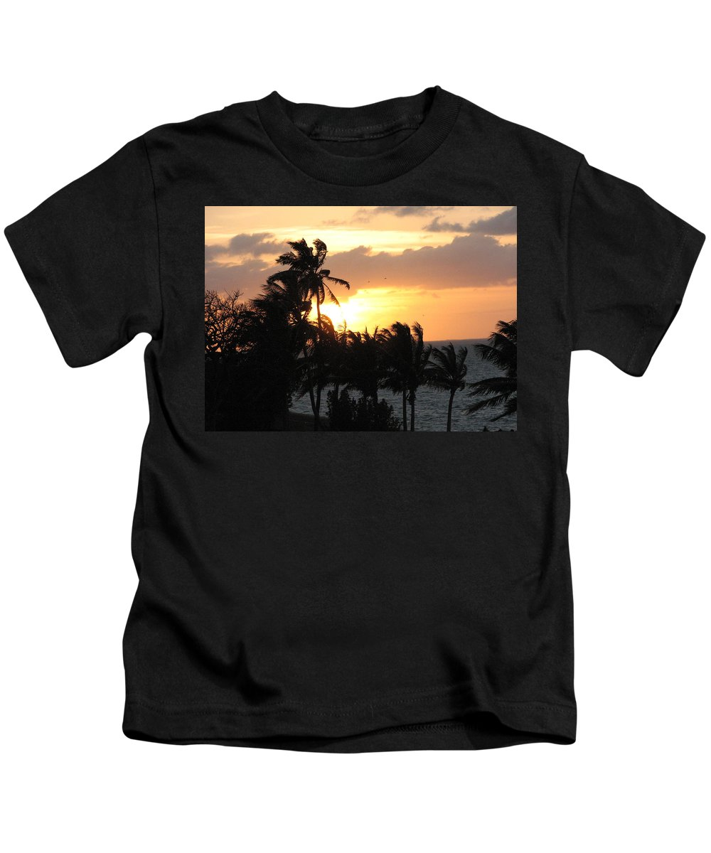 Sunset Kids T-Shirt featuring the photograph Seven Mile Sunset by Stacey May