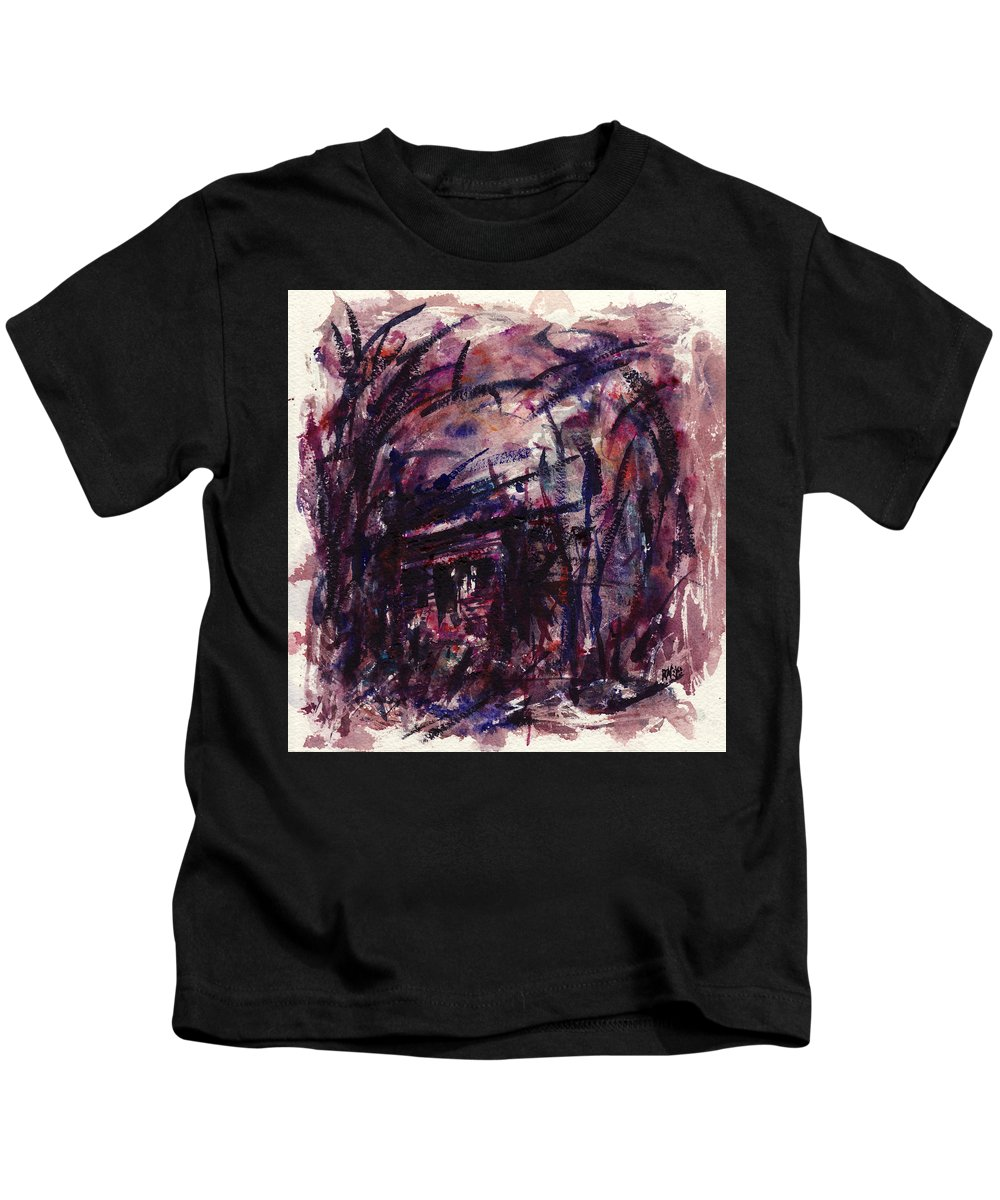 Shack Kids T-Shirt featuring the painting Shack Third Movement by Rachel Christine Nowicki