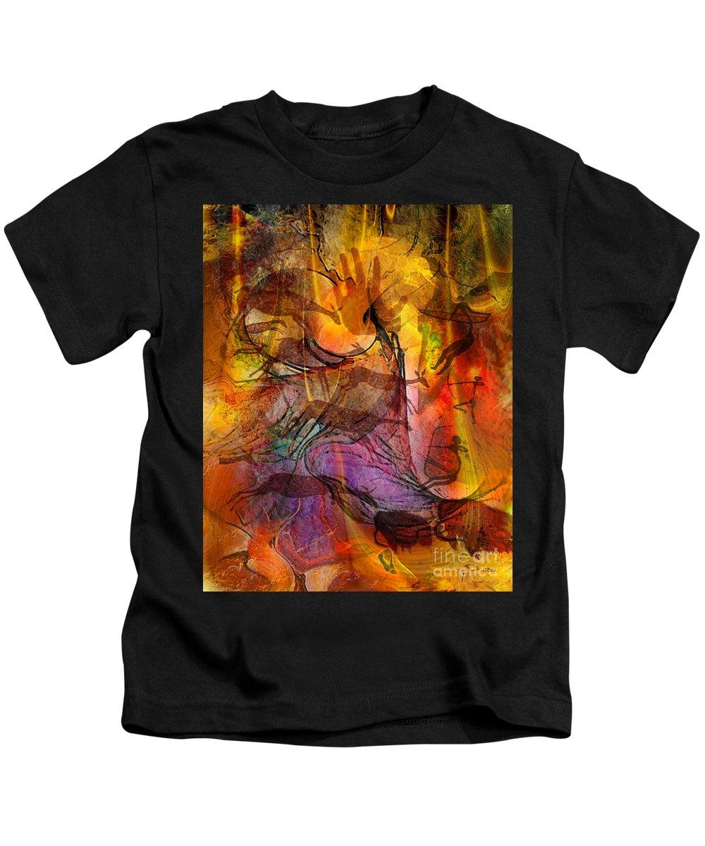 Shadow Hunters Kids T-Shirt featuring the digital art Shadow Hunters by John Beck