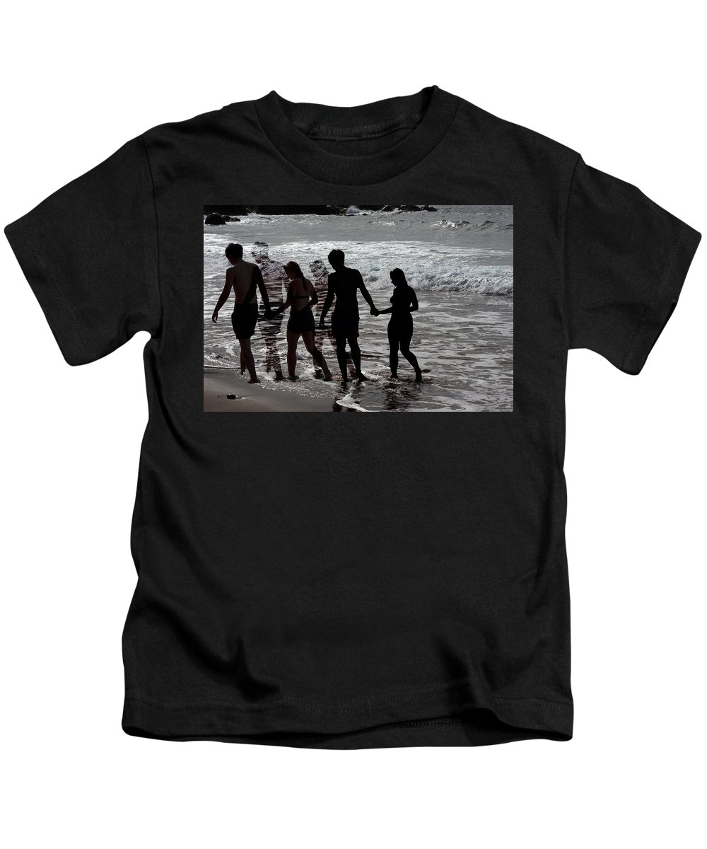 Canary Kids T-Shirt featuring the photograph Shadow Love by Jean-luc Bohin