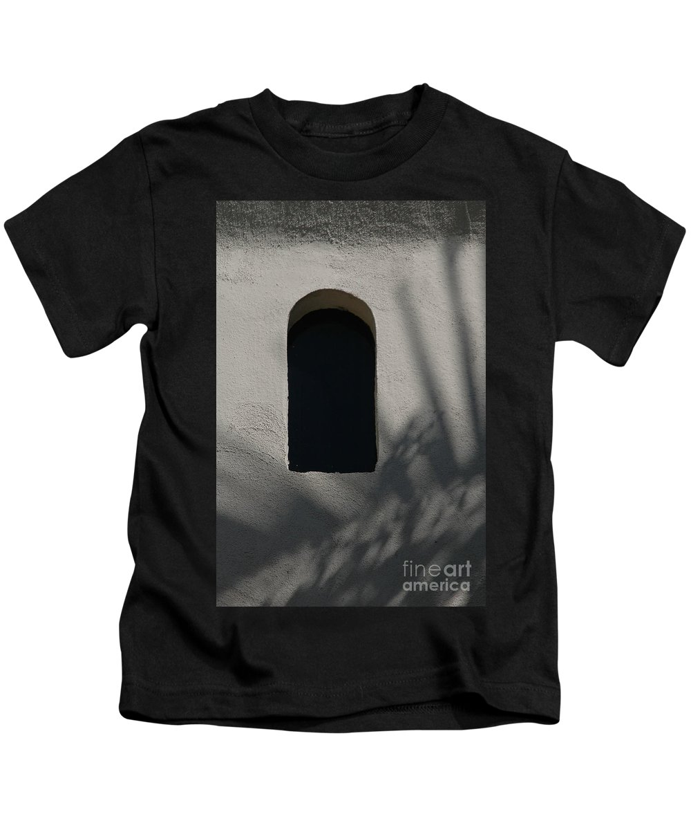 Window Kids T-Shirt featuring the photograph Shadows On The Wall by Michael Ziegler