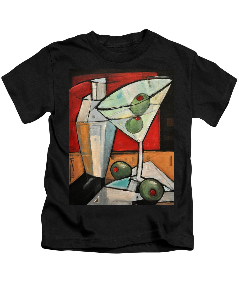 Martini Kids T-Shirt featuring the painting Shaken Not Stirred by Tim Nyberg