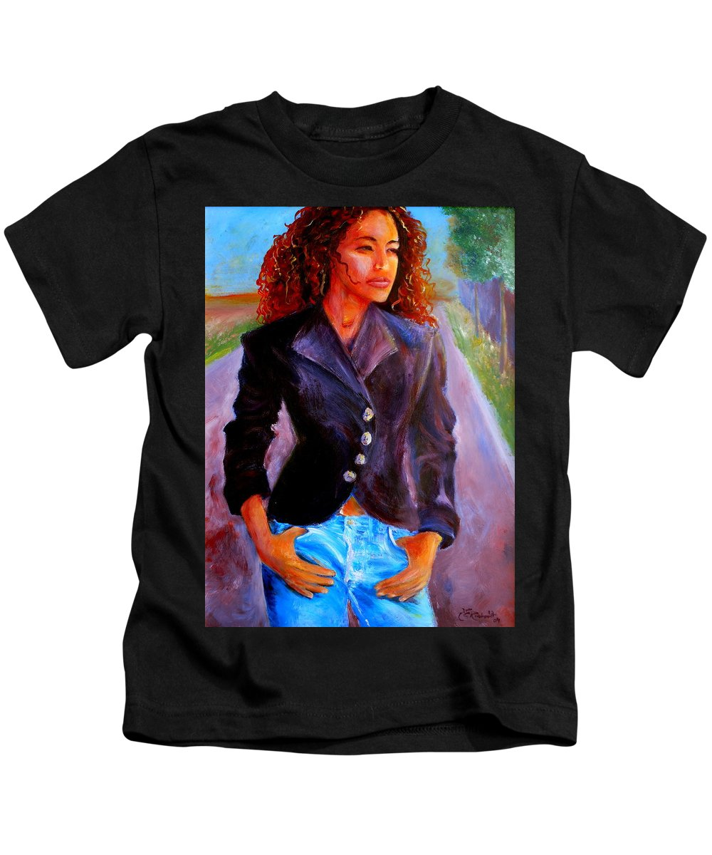 Acrylic Kids T-Shirt featuring the painting Sharice by Jason Reinhardt