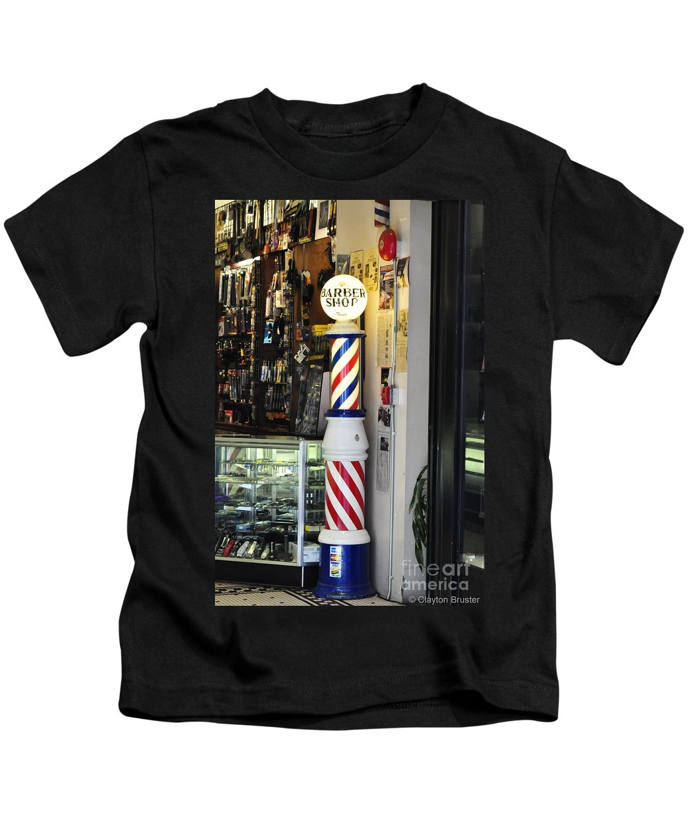 Clay Kids T-Shirt featuring the photograph Shave And A Haircut by Clayton Bruster