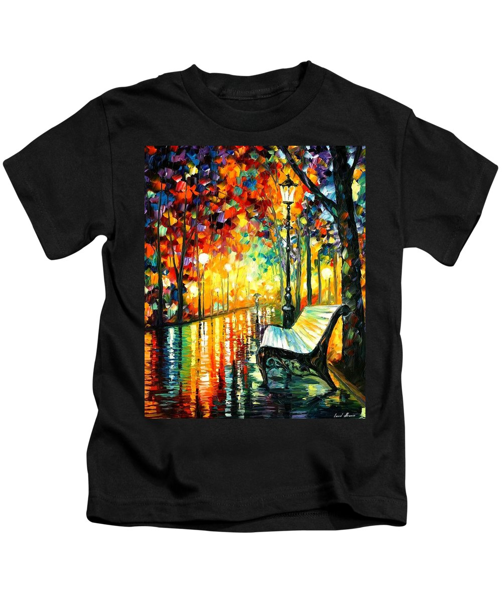 Afremov Kids T-Shirt featuring the painting She Left by Leonid Afremov