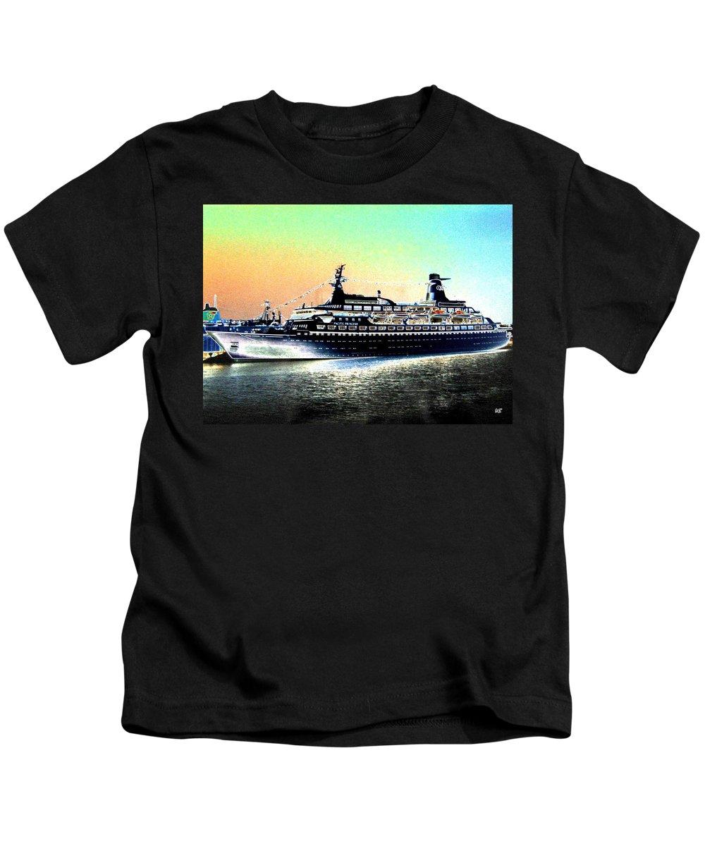 Photo Design Kids T-Shirt featuring the digital art Shipshape 1 by Will Borden