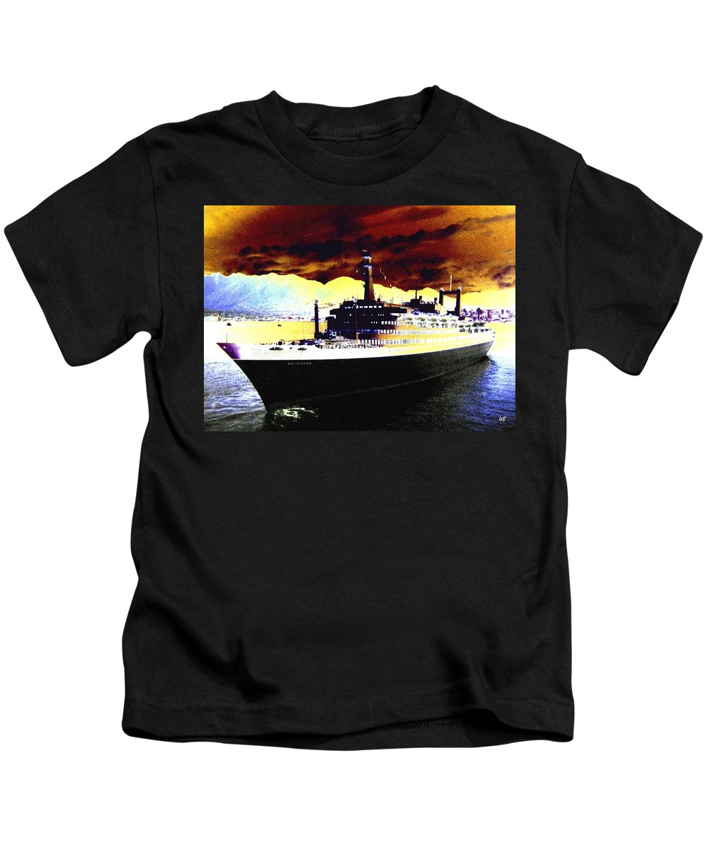 S S Rotterdam Kids T-Shirt featuring the digital art Shipshape 3 by Will Borden