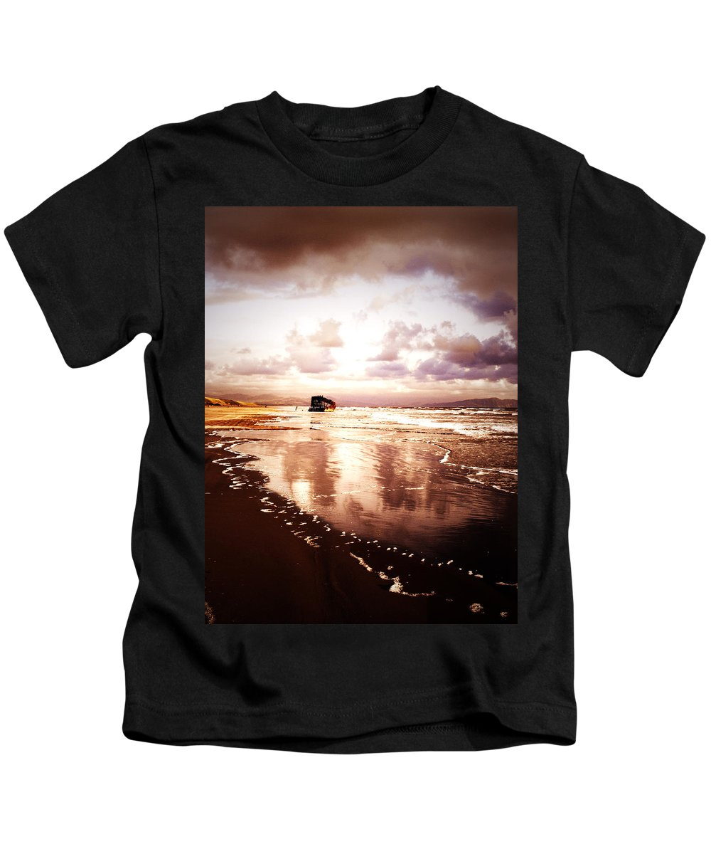 Ocean Kids T-Shirt featuring the photograph Shipwrecked 2 by Tara Turner