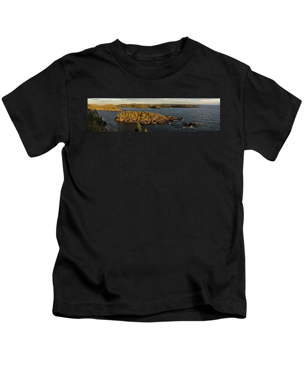 Lake Superior Kids T-Shirt featuring the photograph Shores Of Pukaskwa by Doug Gibbons