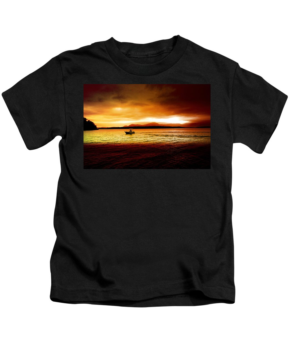 Landscape Kids T-Shirt featuring the photograph Shores Of The Soul by Holly Kempe