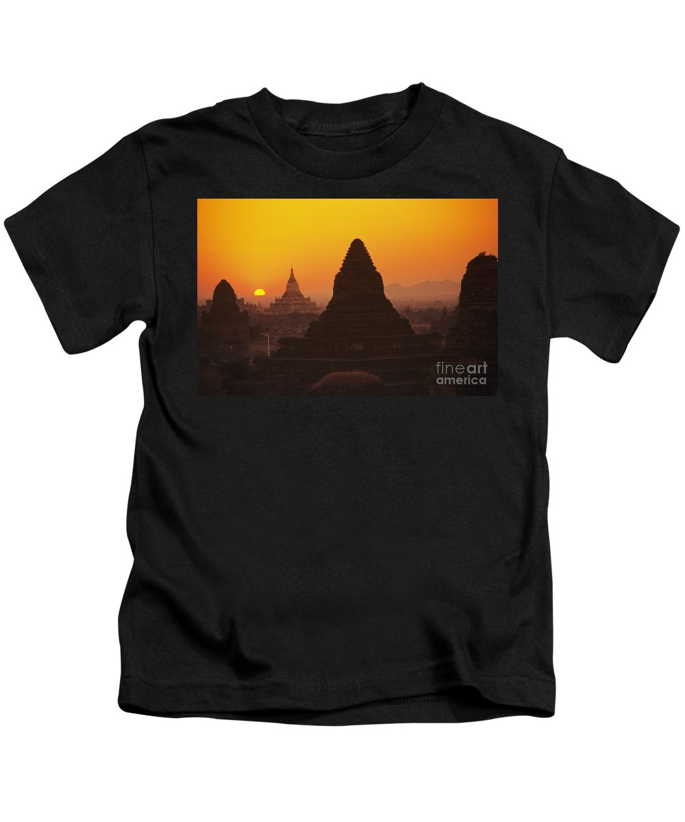 Ancient Kids T-Shirt featuring the photograph Shwesandaw Paya Temples by Gloria & Richard Maschmeyer - Printscapes