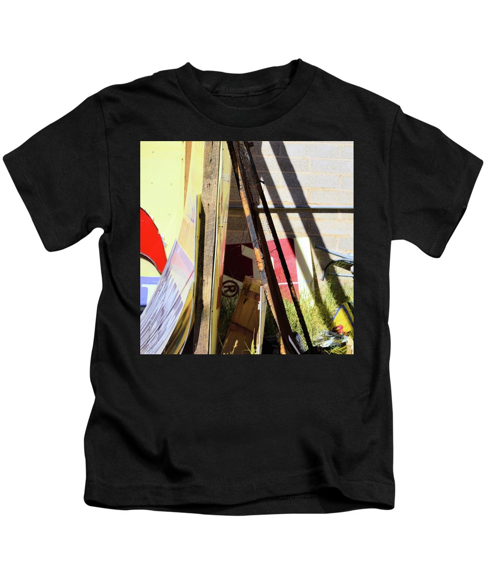 Signs Kids T-Shirt featuring the photograph Signs And Shadows by Bradford Turner