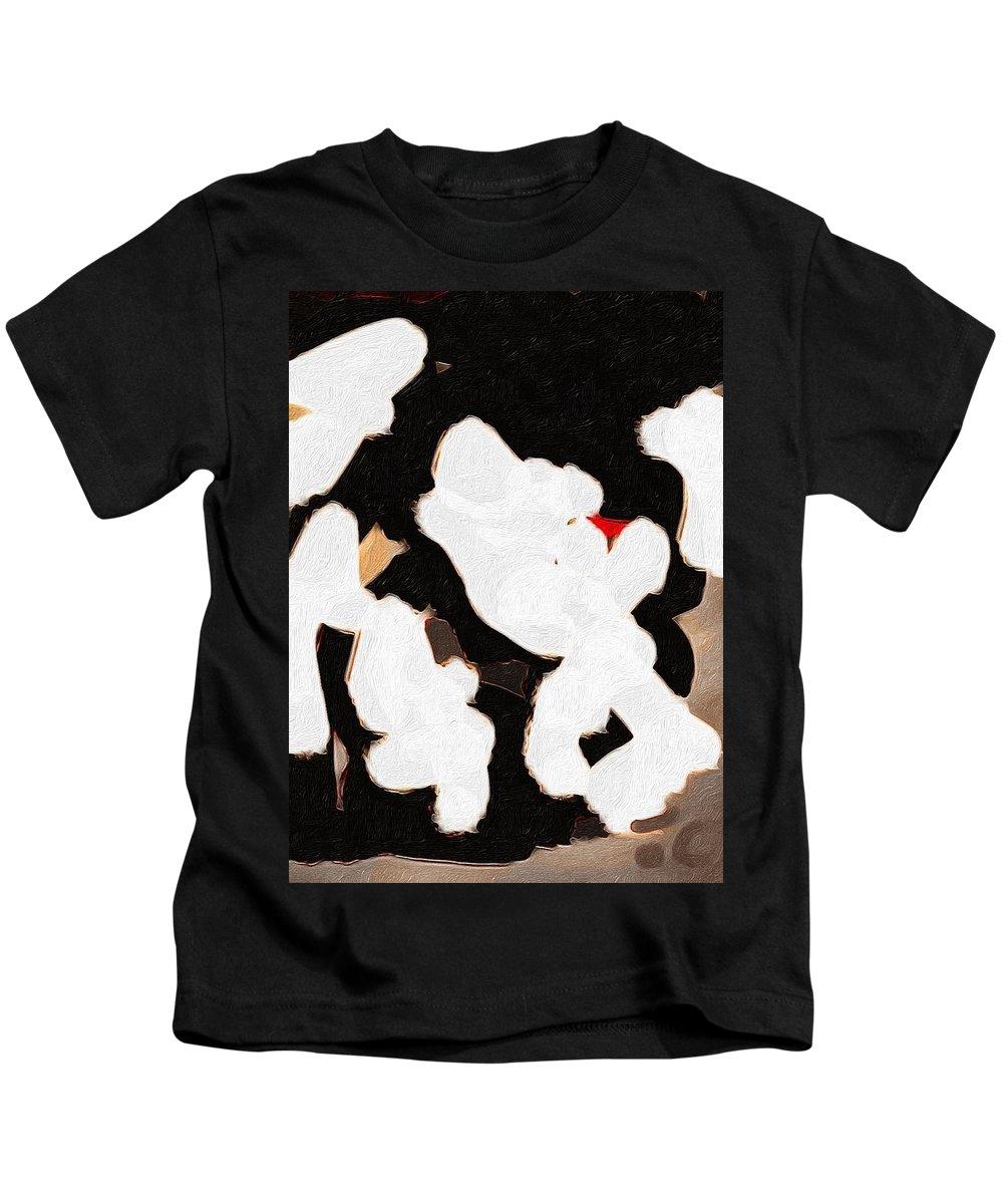 Brushstroke Kids T-Shirt featuring the digital art Silence by Judith Chantler