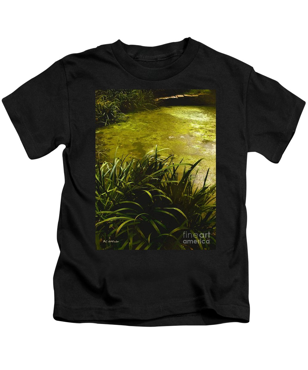 Landscape Kids T-Shirt featuring the painting Silent Shimmer by RC DeWinter