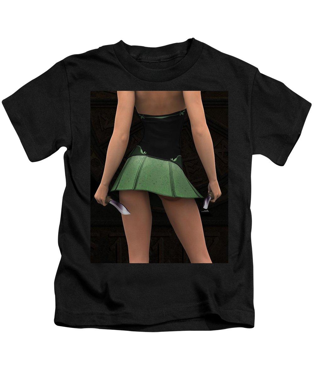 3d Kids T-Shirt featuring the digital art Silent Wars by Alexander Butler