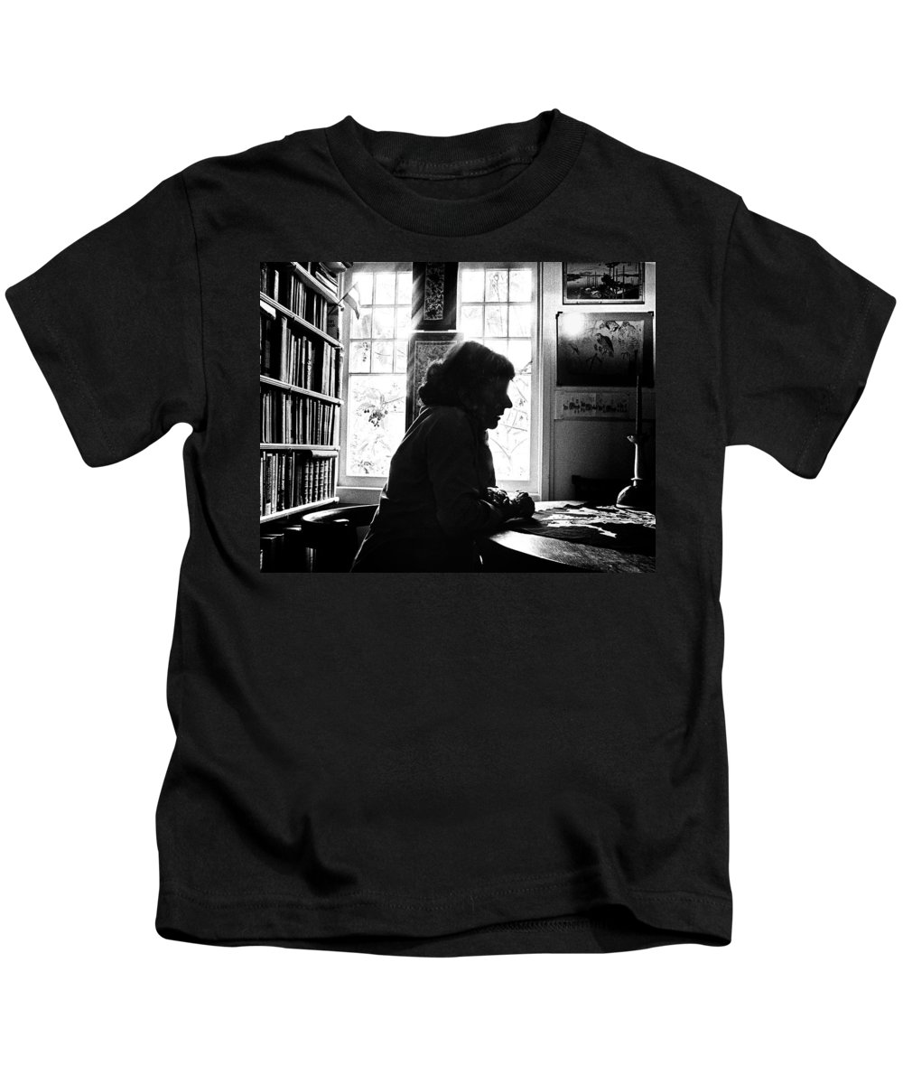 Woman Kids T-Shirt featuring the photograph Silhouette by Herman Robert