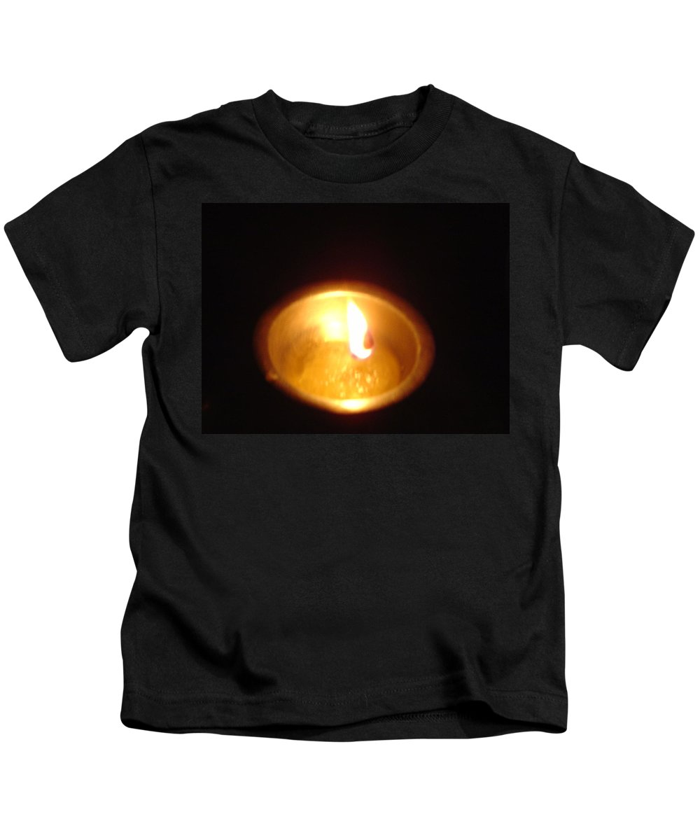 Indian Kids T-Shirt featuring the photograph Silver Lamp by Usha Shantharam