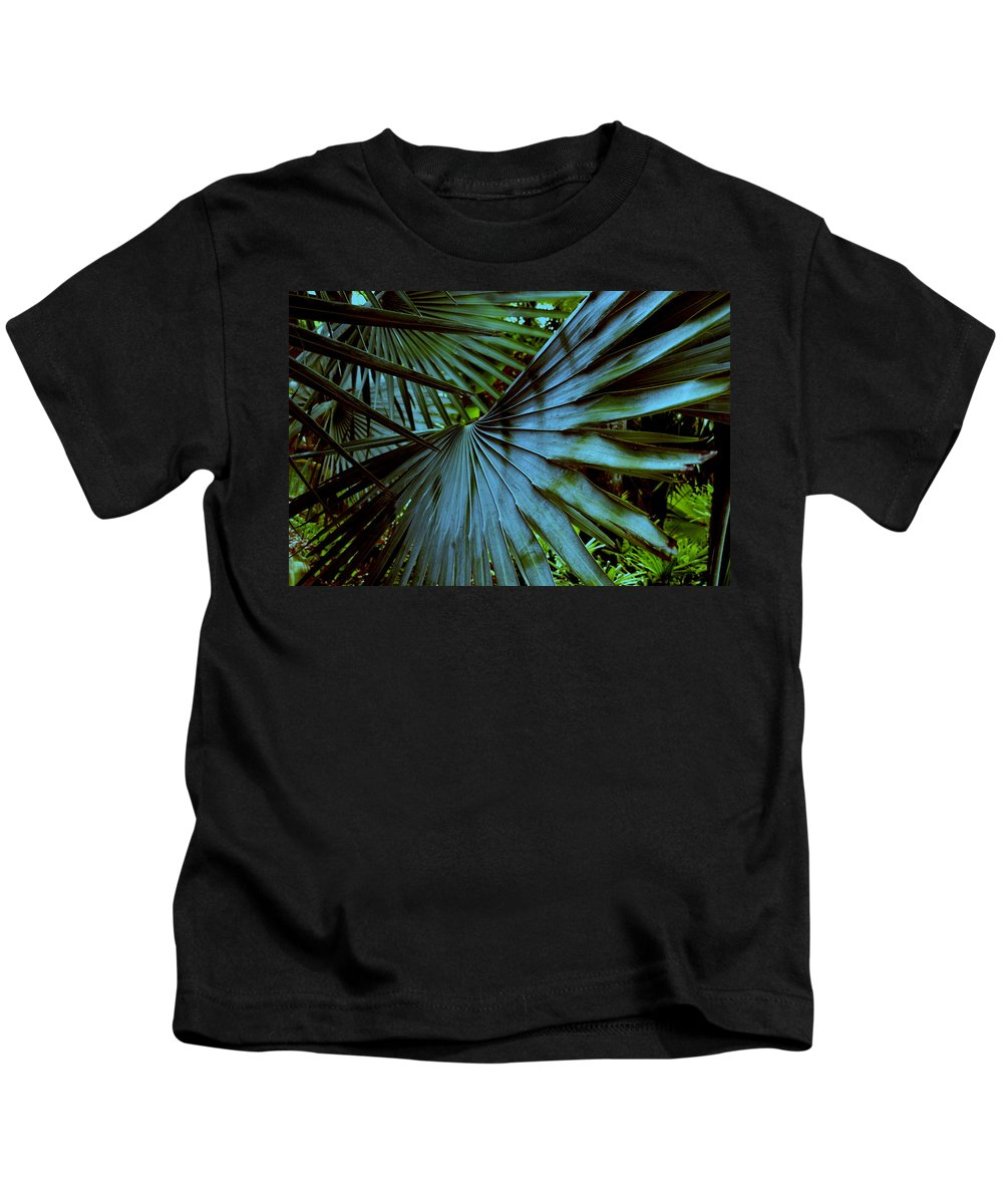 Silver Palm Leaf Kids T-Shirt featuring the photograph Silver Palm Leaf by Susanne Van Hulst