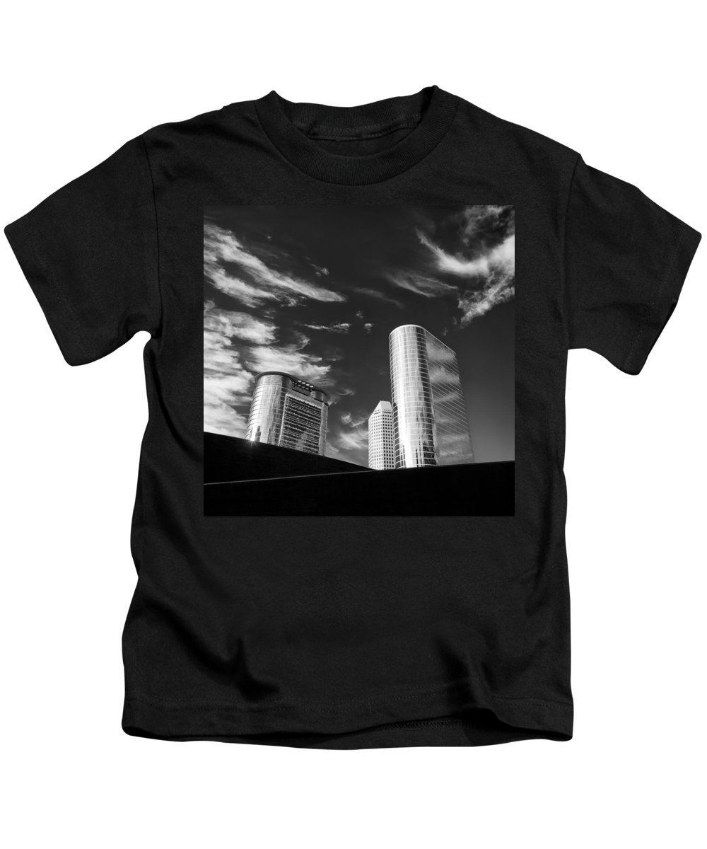 Houston Kids T-Shirt featuring the photograph Silver Towers by Dave Bowman